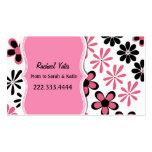 Carte florale rose et noire élégante de maman modèle de carte de visite