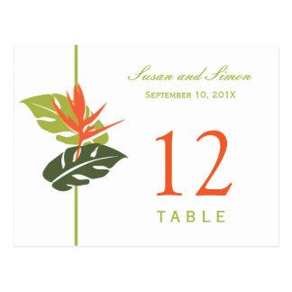 Carte florale tropicale | de nombre de Tableau