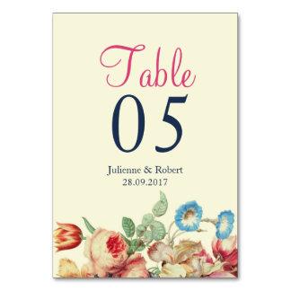 Carte florale vintage de Tableau de mariage