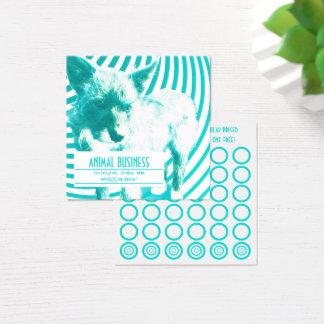carte folle de timbre de chiots de hazie