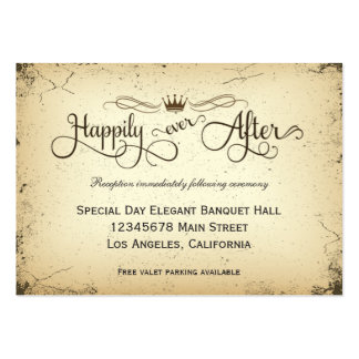 Carte formelle de réception de mariage d'intrigue carte de visite grand format