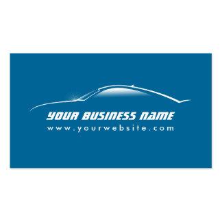 Carte fraîche de commerce de l automobile d ensemb cartes de visite professionnelles