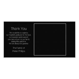 Carte Frontière noire de blanc d'esprit de Merci de