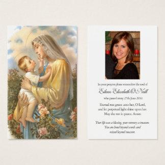 Carte funèbre bonne et douce mère de   de prière