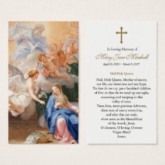 Carte funèbre de prière de sympathie d'annonce