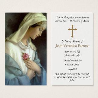 Carte funèbre de prière de sympathie d'avenue