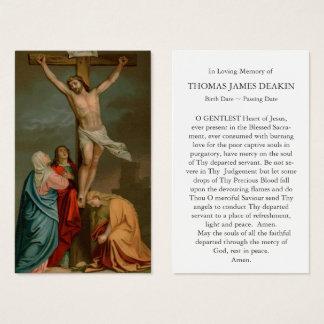 Carte funèbre   de prière la crucifixion