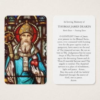 Carte funèbre   St Augustine 4 de prière