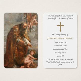 Carte funèbre   St Augustine 5 de prière