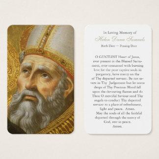 Carte funèbre   St Augustine 7 de prière
