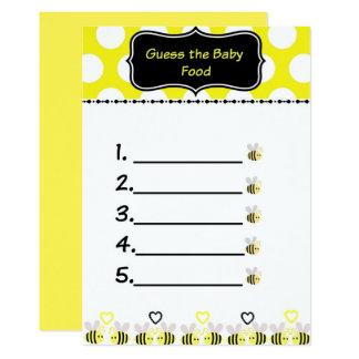 Carte Gaffez la conjecture d'abeille le jeu de baby