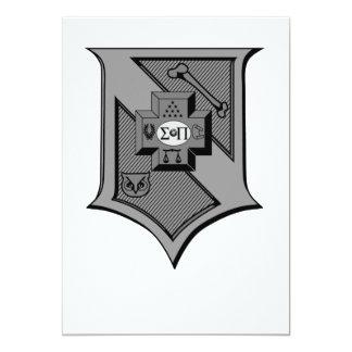 Carte Gamme de gris de bouclier du sigma pi