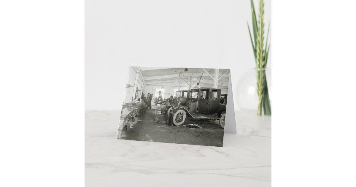 carte garage de r paration de voiture ancienne les. Black Bedroom Furniture Sets. Home Design Ideas