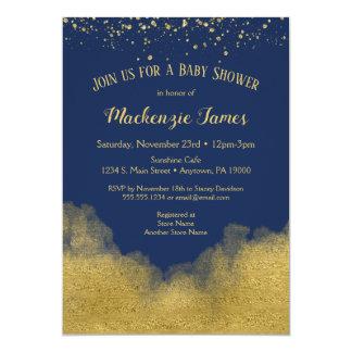 Carte Garçon d'invitation de baby shower de confettis
