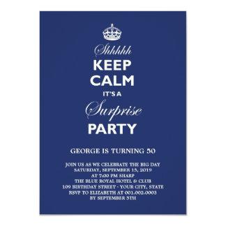 Carte Gardez la fête d'anniversaire drôle calme de