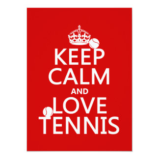Carte Gardez le calme et aimez le tennis