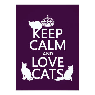 Carte Gardez le calme et aimez les chats (dans toute