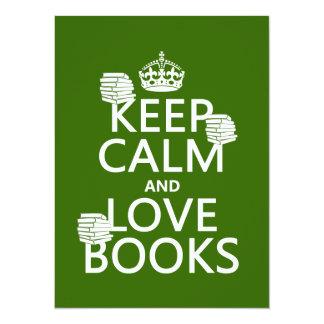 Carte Gardez le calme et aimez les livres (dans toute