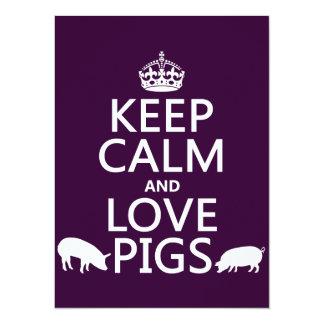 Carte Gardez le calme et aimez les porcs (toutes les