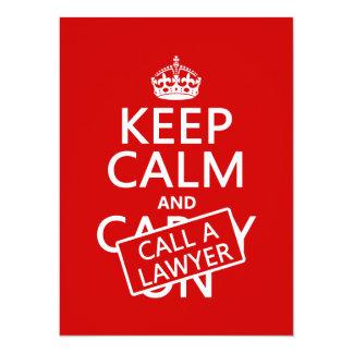 Carte Gardez le calme et appelez un avocat (dans toute