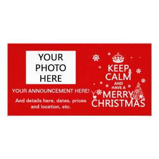 Carte Gardez le calme et ayez un Joyeux Noël