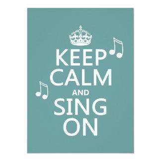 Carte Gardez le calme et chantez dessus - toutes les