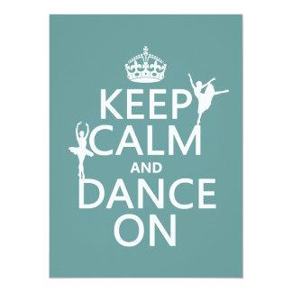 Carte Gardez le calme et dansez sur (ballet) (toutes les