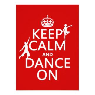 Carte Gardez le calme et dansez sur (dans toutes les
