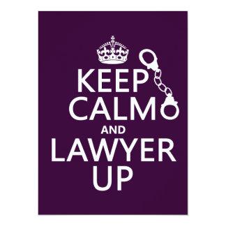 Carte Gardez le calme et l'avocat (toute couleur)