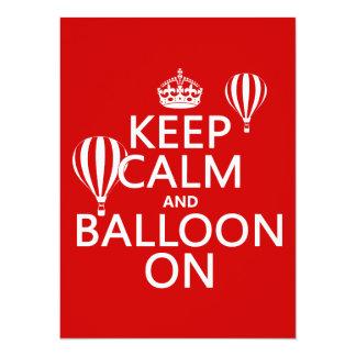 Carte Gardez le calme et le ballon sur (le ballon à air