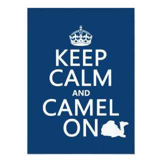 Carte Gardez le calme et le chameau sur (toutes les