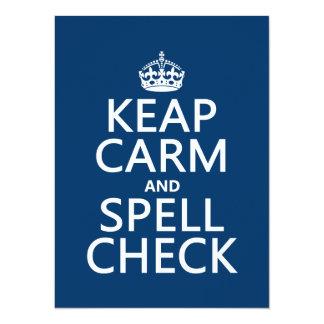 Carte Gardez le calme et le contrôle de charme (avec