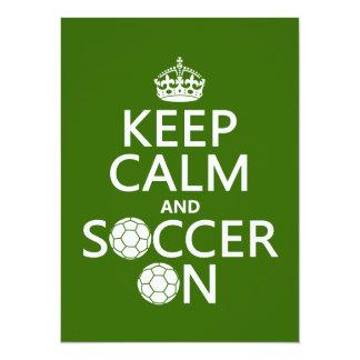 Carte Gardez le calme et le football dessus