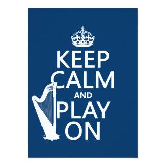 Carte Gardez le calme et le jeu sur (harpe) (toute