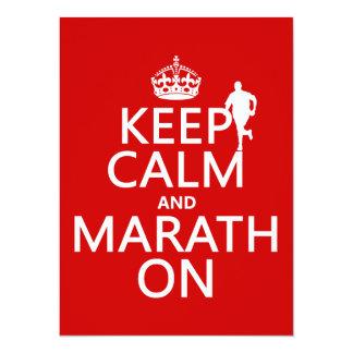 Carte Gardez le calme et le Marath dessus