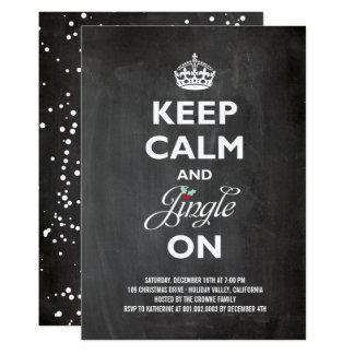 Carte Gardez le calme et le tintement sur l'invitation