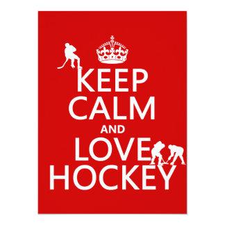 Carte Gardez le calme et l'hockey dessus