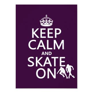 Carte Gardez le calme et patinez sur (les rollerskaters)