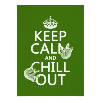 Carte Gardez le calme et refroidissez (paresse) (toute