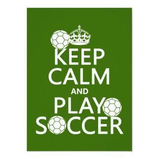 Carte Gardez le football de calme et de jeu (toute