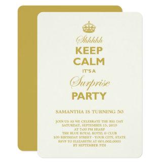 Carte Gardez l'invitation drôle calme d'anniversaire de