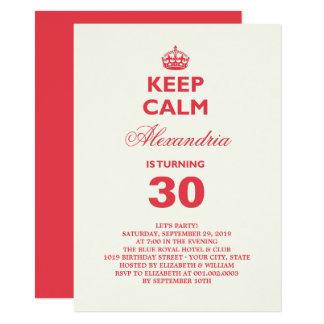 Carte Gardez l'invitation drôle calme de fête