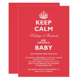 Carte Gardez l'invitation drôle calme de partie de baby