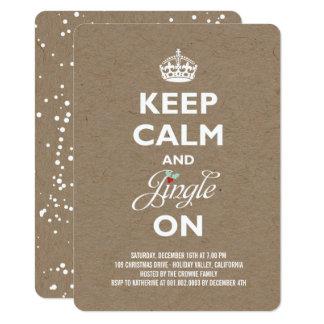 Carte Gardez l'invitation rustique de fête de vacances