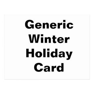 Carte générique de vacances d'hiver