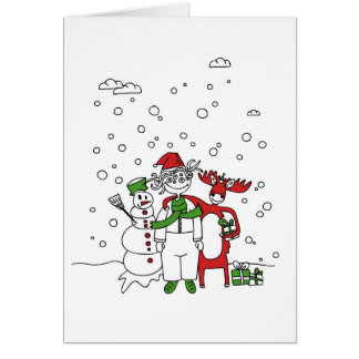 Carte géniale de Noël