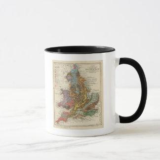 Carte géologique Angleterre, Pays de Galles Mug