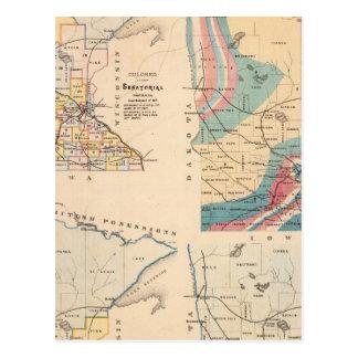 Carte géologique du Minnesota par NH Winchell