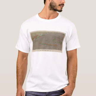 Carte géologique du nouveau secteur d'extraction t-shirt