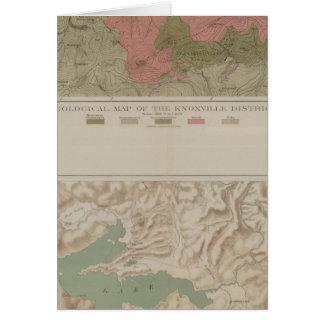 Carte géologique du secteur de Knoxville